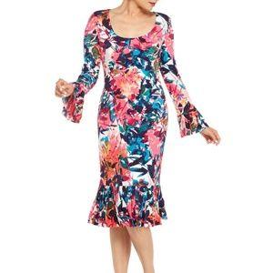 MAGGY LONDON Midi Sheath Dress